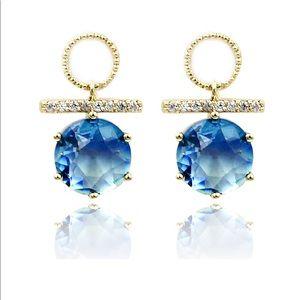 Beautiful blue crystal earrings